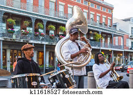 Jazz band in New Orleans