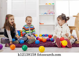 Kids playing in the room