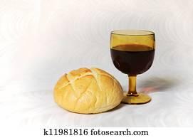 kommunion, bread, und, wein