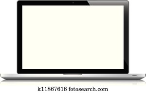 Laptop isolated on white vector eps