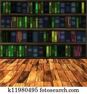 library and books