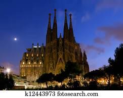 night Sagrada Familia