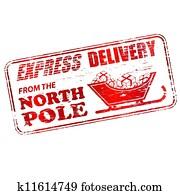 nordpol, briefmarke