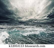 Ocean storm