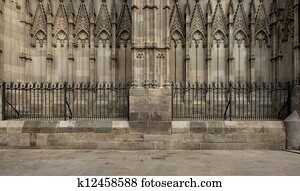 Old cathedral architecture details