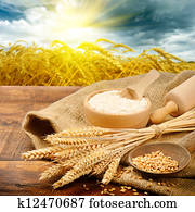organische, bestandteile, für, bread, vorbereitung