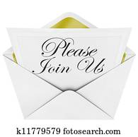 Please Join Us Official Invitation Envelope Note