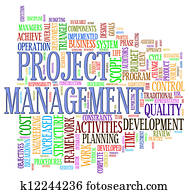 Project management wordcloud