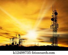 Radio Towers and Sunshine