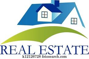 real estate, haus, logo, vektor