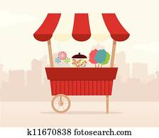 Retro Candy Stand