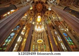 Sagrada Familia cathedral interior