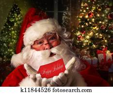 Santa Claus with holiday background