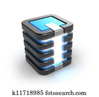 Server storage database icon