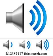 Set of speaker icons