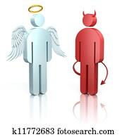 shoulder angel and devil