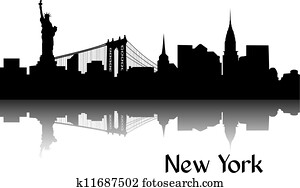 silhouette, von, new york