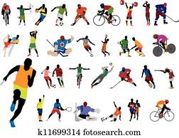 Silhouettes athlete
