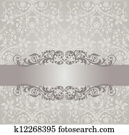 Silver wallpaper and swirls banner
