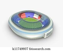 sport arena. stadium 3d illustration
