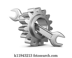 steel gear and wrench tool