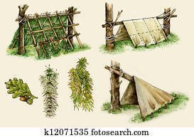 survival shelters in the woods