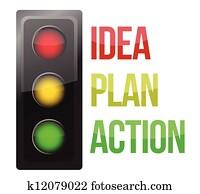 Traffic light design planning business process