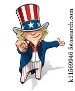 Uncle Sam 'I Want You' Presenting