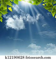 Under the blue skies. Abstract natural backgrounds for your design
