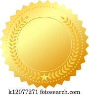 Vector golden award emblem