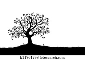 Vector Tree Silhouette, vectorial