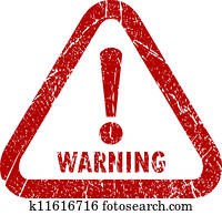 Vector warning stamp