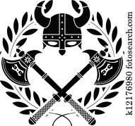 viking glory. stencil. first varian