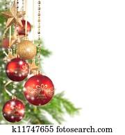 Weihnachtsmotive Zum Kopieren.Weihnachtsmotive Mit Rot Glas Kugeln Und Frei Raum Für Text