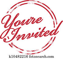 You're Invited RSVP Invite Stamp
