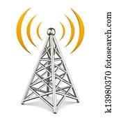 3d illustration of tower wireless equipment