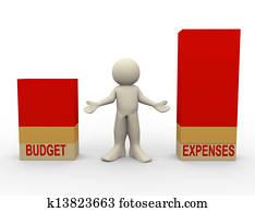 3d man budget expenses comparison