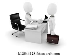 3d man businessman deal