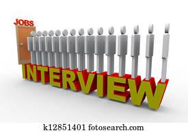 3d people job interview