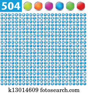 504 glossy icons