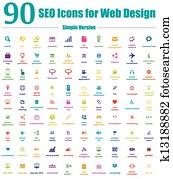 90, seo, heiligenbilder, für, netz- design, einfache