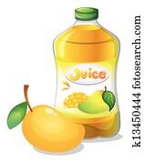 A bottle of mango juice