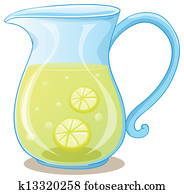 A pitcher of lemon juice
