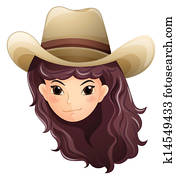 A pretty face of a cowgirl