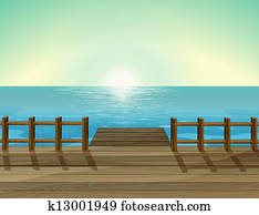 A sea scenery