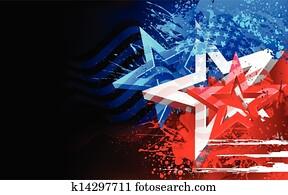 abstrakt, amerikaflagge, hintergrund