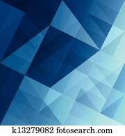 abstrakt, dreiecke, blau, hintergrund., vector,, eps10