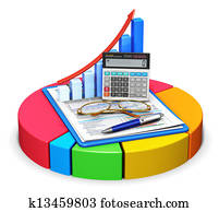 Accounting and statistics concept