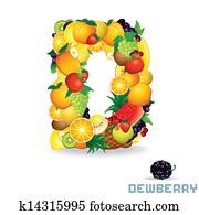 Alphabet From Fruit. Letter D