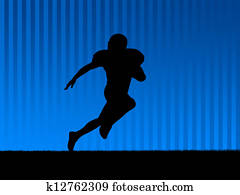 American football background blue